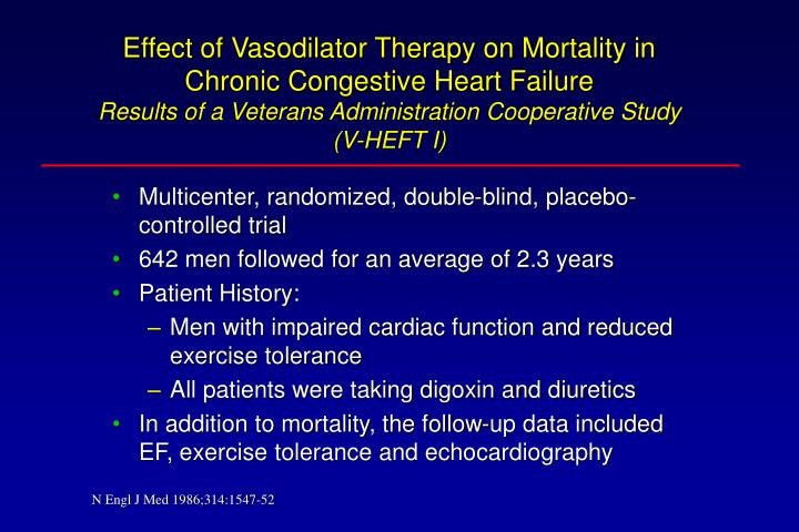 Effect of Vasodilator Therapy on Mortality in Chronic Congestive Heart Failure