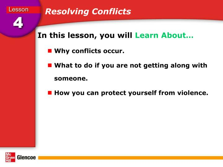 resolving conflicts Avoiding a conflict won't get you anywhere here's what you need to do to nip it in the bud.