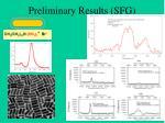 preliminary results sfg