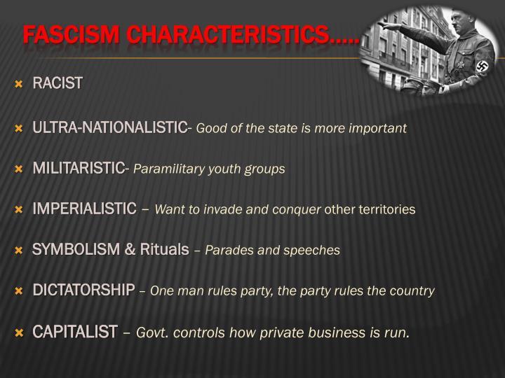 Fascism characteristics