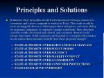 principles and solutions