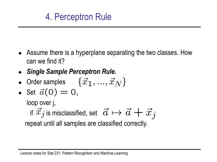 4. Perceptron Rule