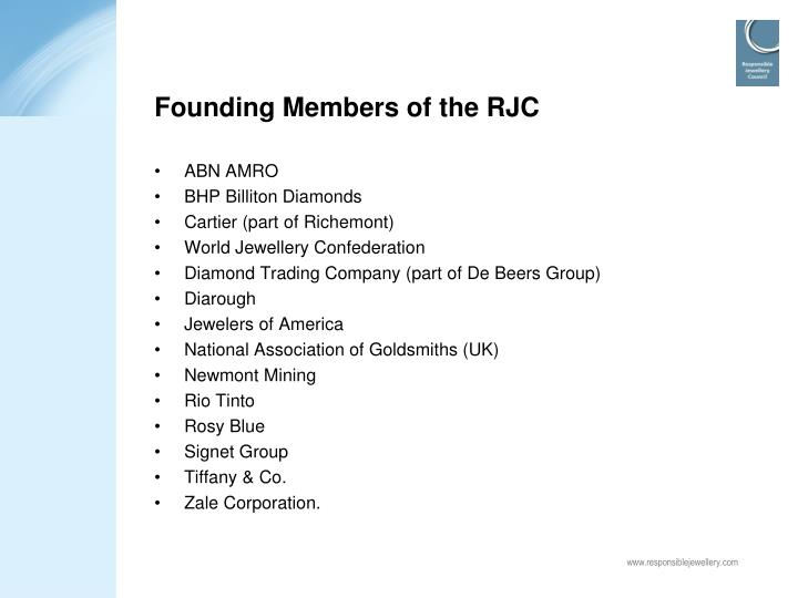 Founding Members of the RJC