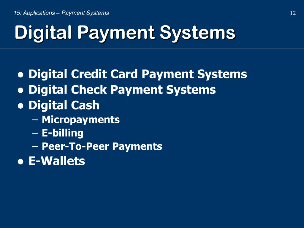 PPT - Payment Systems PowerPoint Presentation - ID:1711432