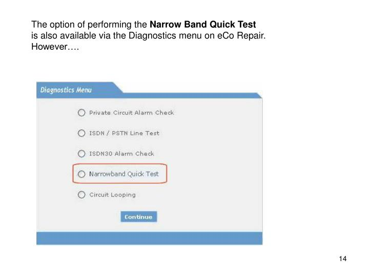 The option of performing the