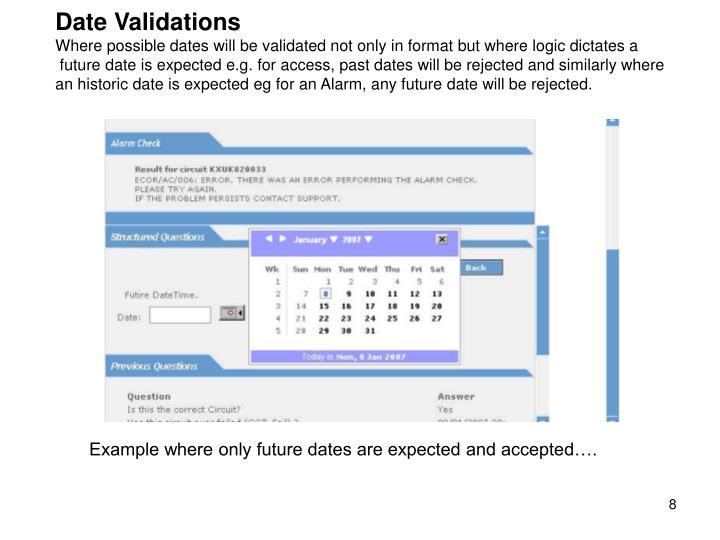 Date Validations