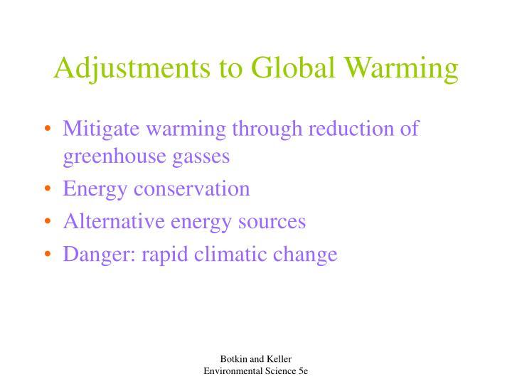 Adjustments to Global Warming
