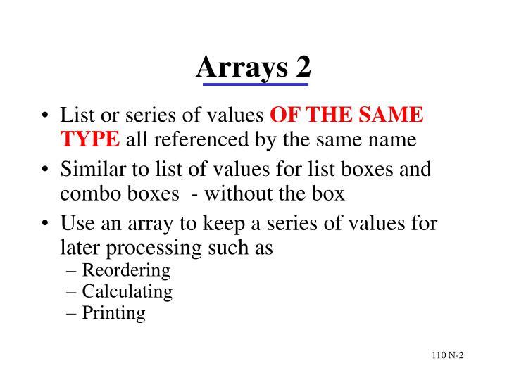 Arrays 2