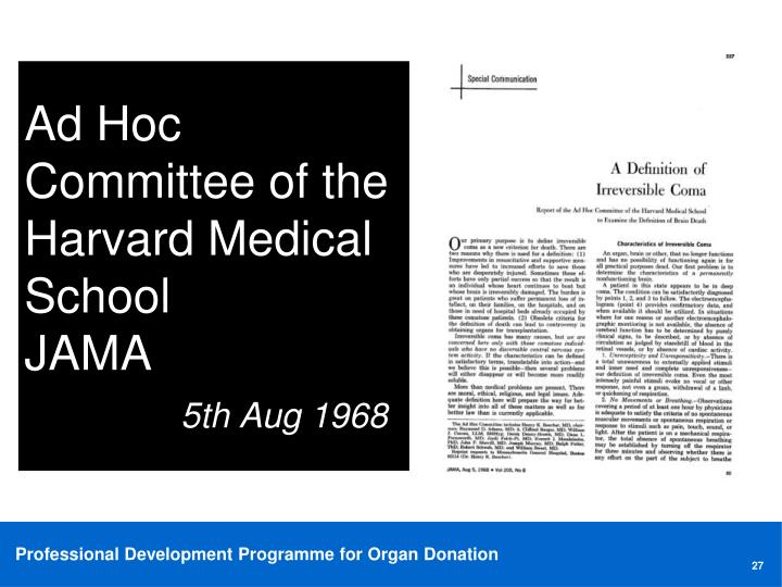 Ad Hoc Committee of the Harvard Medical School