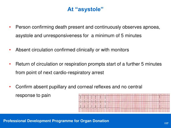 "At ""asystole"""