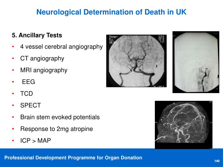 Neurological Determination of Death in UK