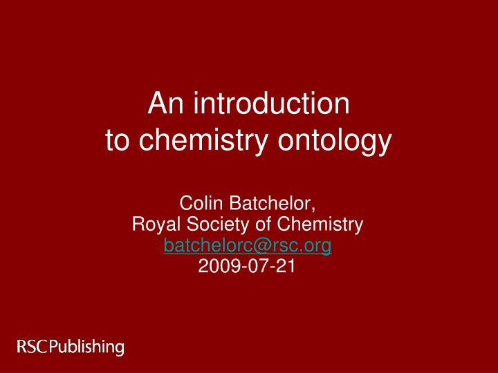 an introduction to chemistry ontology n.