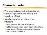 character sets3