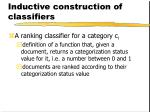 inductive construction of classifiers