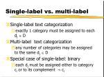 single label vs multi label