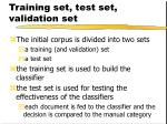 training set test set validation set1