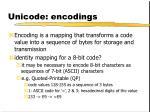 unicode encodings