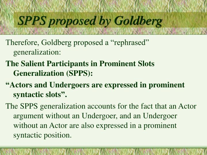 SPPS proposed by Goldberg