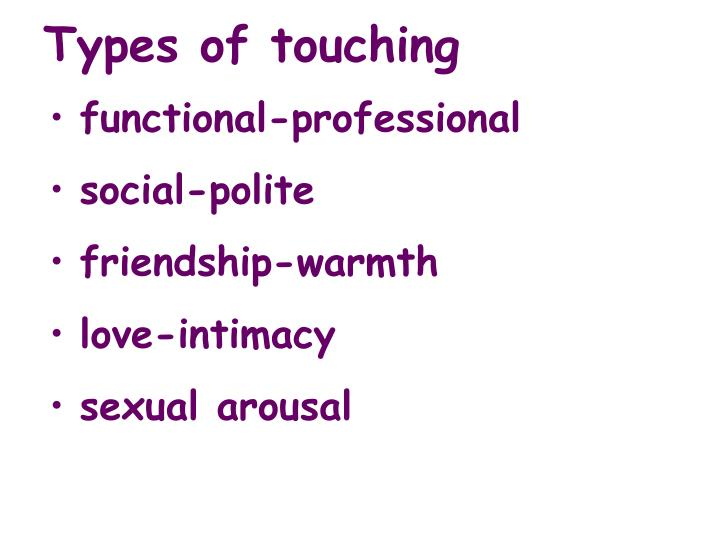 Types of touching