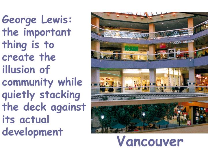 George Lewis: the important thing is to create the illusion of community while quietly stacking the deck against its actual development