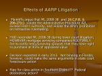 effects of aarp litigation