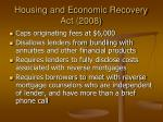 housing and economic recovery act 2008