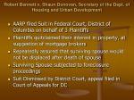 robert bennett v shaun donovan secretary of the dept of housing and urban development