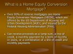 what is a home equity conversion mortgage