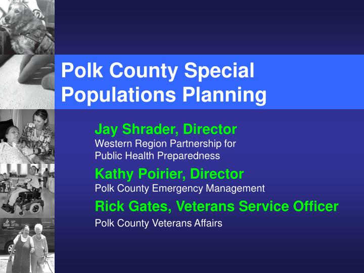 Polk county special populations planning