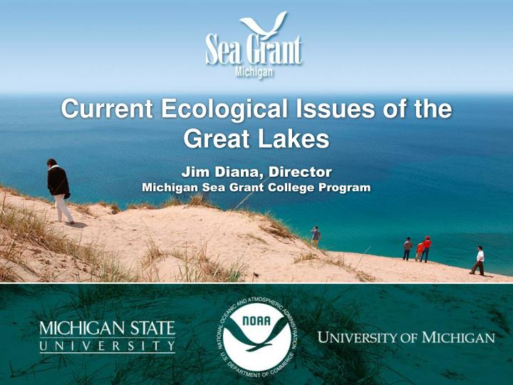 current ecological issues of the great lakes jim diana director michigan sea grant college program n.