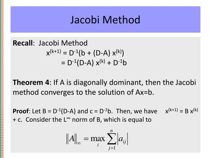Jacobi Method