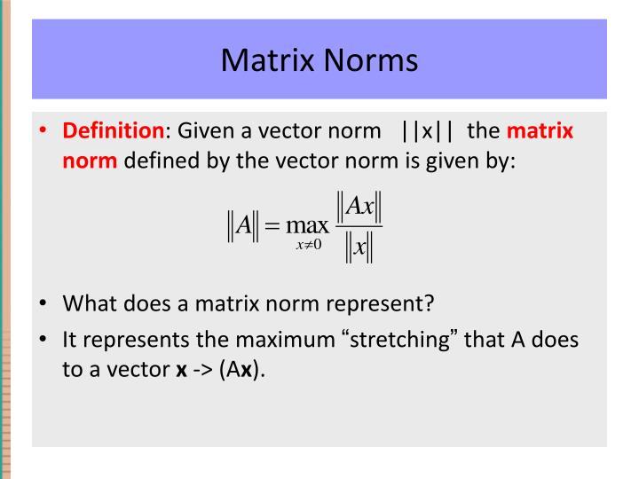 Matrix Norms