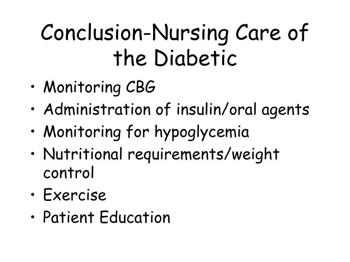Conclusion-Nursing Care of the Diabetic
