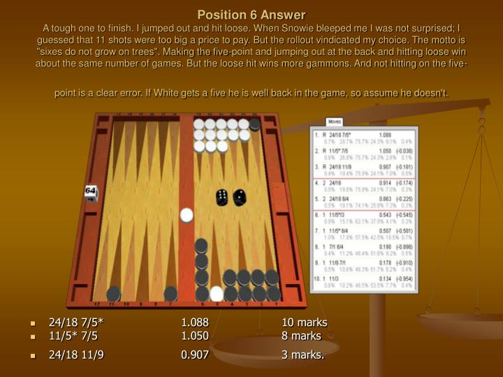 Position 6 Answer