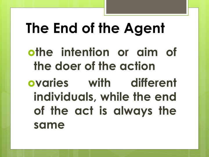 The End of the Agent