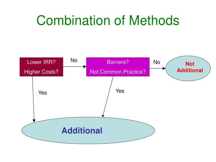 Combination of Methods