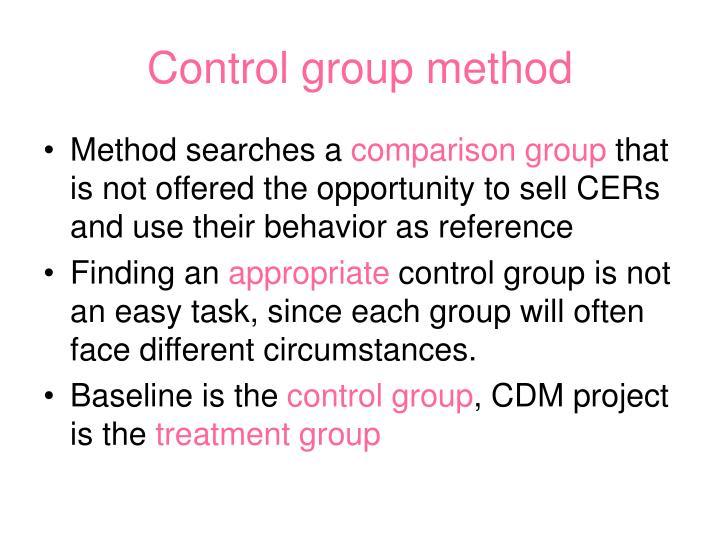 Control group method