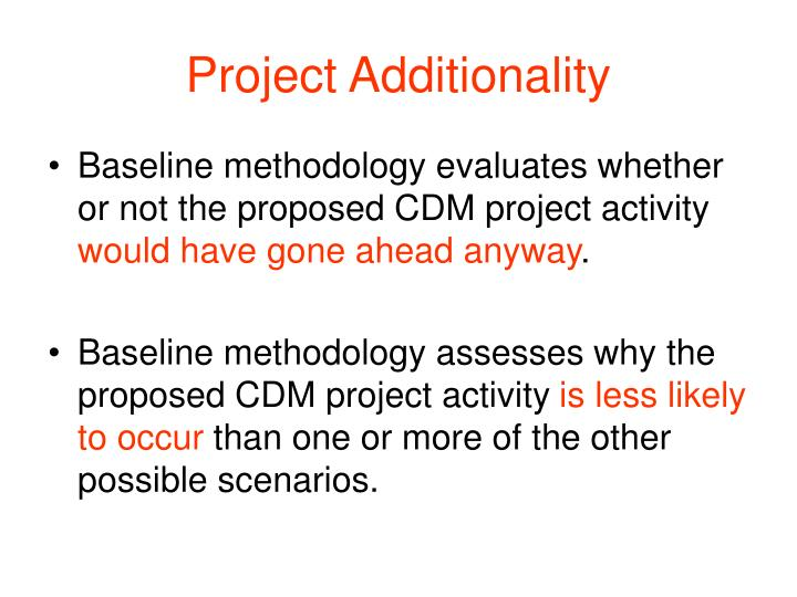 Project Additionality