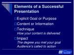 elements of a successful presentation