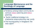language maintenance and the sociology of language