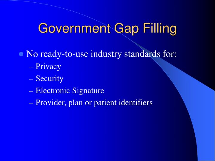 Government Gap Filling