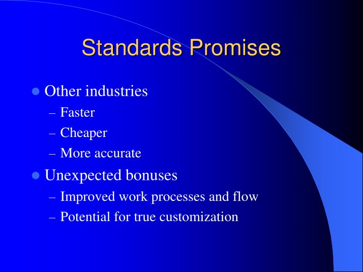 Standards Promises
