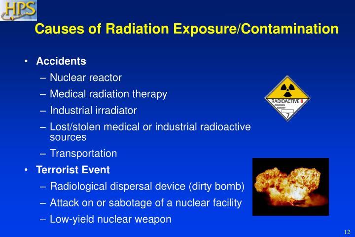 Causes of Radiation Exposure/Contamination