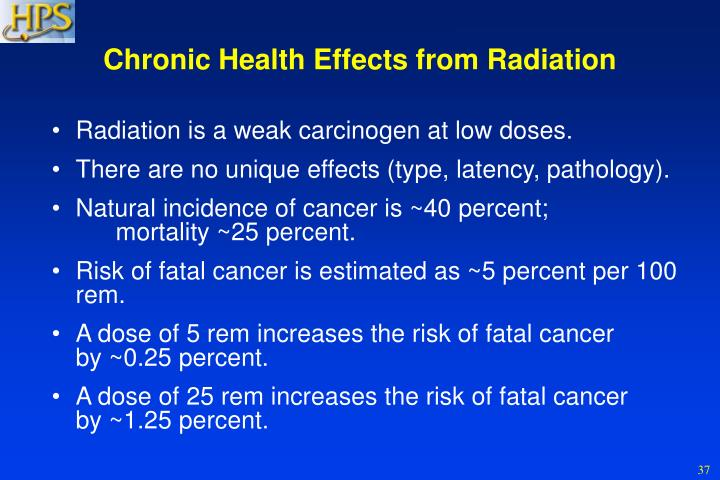 Chronic Health Effects from Radiation
