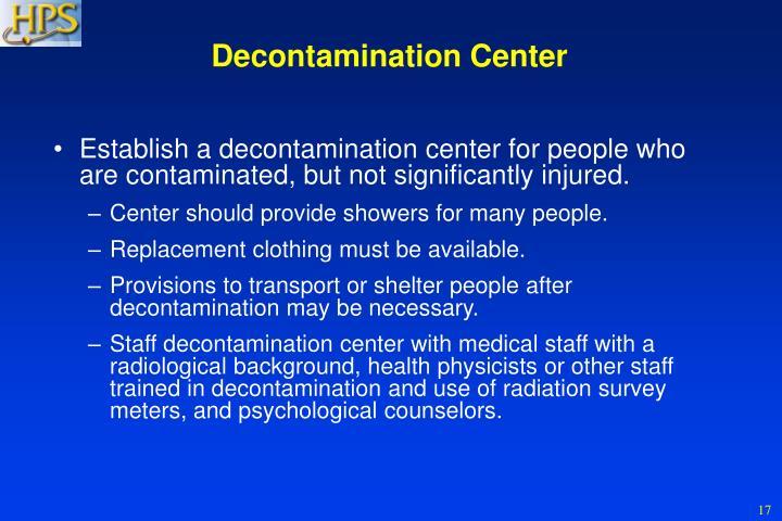 Decontamination Center