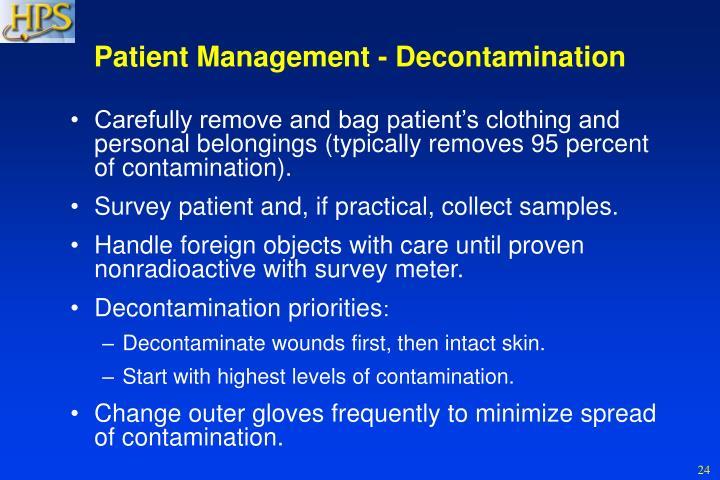 Patient Management - Decontamination