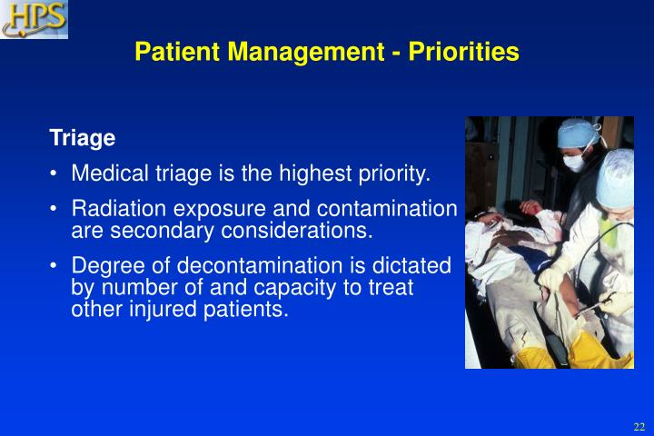 Patient Management - Priorities
