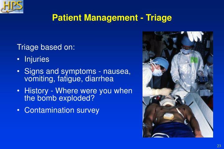 Patient Management - Triage