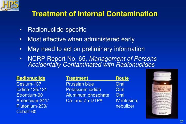 Treatment of Internal Contamination