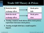 trade off theory prices